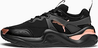 Puma Rise Neoprene Womens Trainers, Black/Rose Gold, size 3.5, Shoes