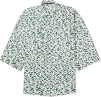 Haider Ackermann Oversized Printed Voile Shirt - Green