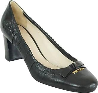 3210a08c64aa Prada Black Leather Pumps With Block Heels - 39.5