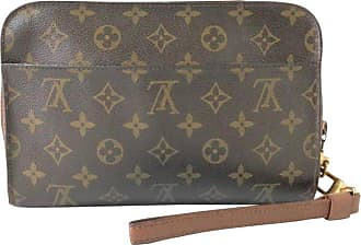 02886acdc17a3 Louis Vuitton Orsay Monogram Wrislet 232062 Brown Coated Canvas Clutch
