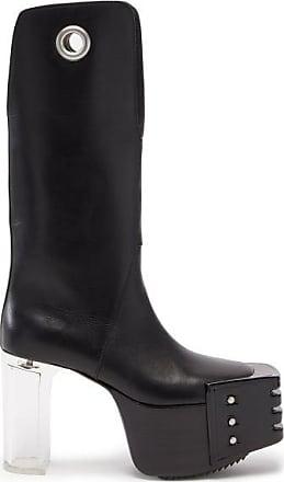 Rick Owens Kiss Plexi-heel Leather Platform Boots - Womens - Black