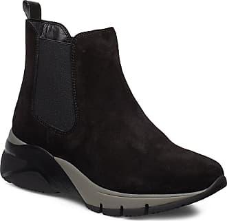 Tamaris Women Boots Leather Croco Black