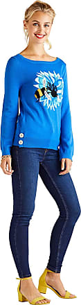 Yumi Bee and Flower Lurex Jumper Bright Blue