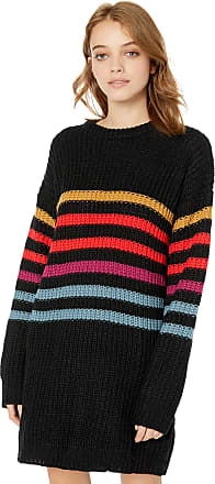 Volcom Womens Move on Up Loose Fit Crew Sweater Dress - Multi - X-Small