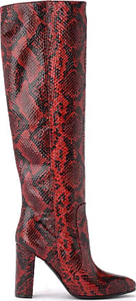 Via Roma 15 Boot in Leather with Red Python Print