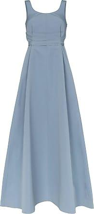 Plan C Vestido com amarração na cintura - Azul