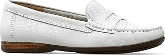Van Dal Womens Helen Leather Wide Fit Loafers (White, 6.5)