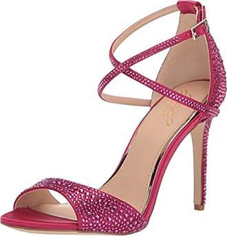 Badgley Mischka Jewel Womens Dillon Heeled Sandal, Pink Satin, 8 M US