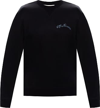 Alexander McQueen Logo-embroidered Sweatshirt Mens Navy Blue