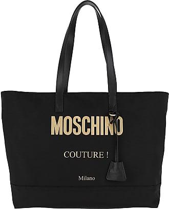 Moschino Shopping Bags - Shoulder Bag Logo Black Fantasy Print - black - Shopping Bags for ladies