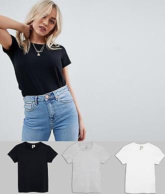 e538ec89a49777 Asos Petite ASOS DESIGN Petite - Ultimate - T-Shirts mit Rundhalsausschnitt  im 3er-