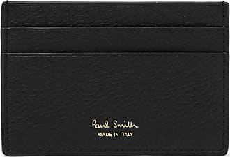 Paul Smith Stripe-trimmed Textured-leather Cardholder - Black