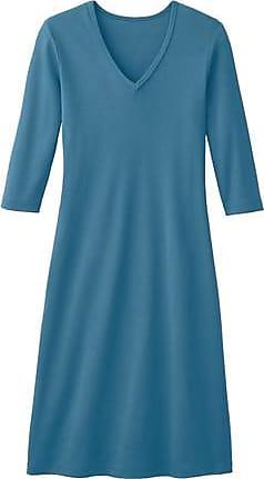 Enna Shirtkleid mit V-Ausschnitt aus Bio-Baumwolle, atlantik