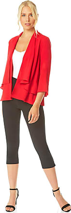Ladies Tailored Blazer Cotton Ruched Sleeve Jacket Roman Originals Women