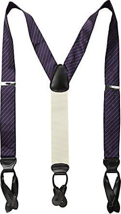 Trafalgar Store Mens Richmond Stripe Brace, Purple, One Size