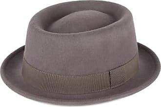 Hat To Socks Grey Wool Pork Pie Hat Waterproof & Crushable Handmade in Italy