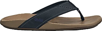 Olukai OluKai Mens Fashion Sandals Black Trench Blue/Clay