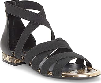 Jessica Simpson Womens Axella Flat Sandal, Black, 6.5 UK