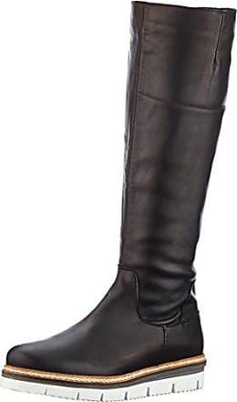 f56ff6537615 Bianco Longboots mit Profil, Bottes Souples Femme, Noir (Black), 35 EU