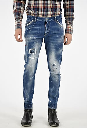 Dsquared2 17cm Printed and Distressed Jeans size 52