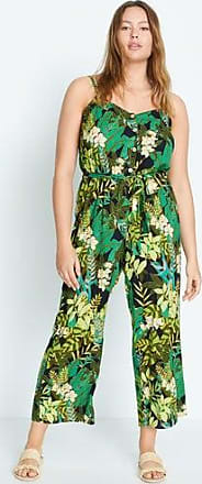 Violeta by Mango Tropical print jumpsuit