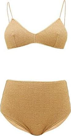 Oséree Lumiere High-rise Metallic Bikini - Womens - Gold