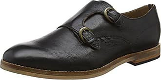 Hudson Mens Tasker Calf Oxford, Black, 12 M US
