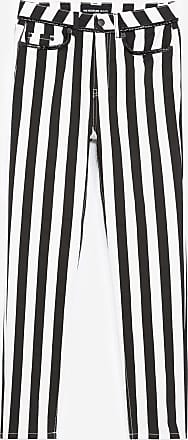 The Kooples Black and white striped slim-fit jeans - WOMEN