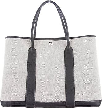 Hermès Hermes Canvas Leather Blue Gray Mens Carryall Travel Tote Bag