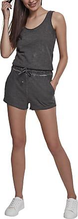Urban Classics Womens Ladies Cold Dye Short Jumpsuit, Grey (Grey 00111), M