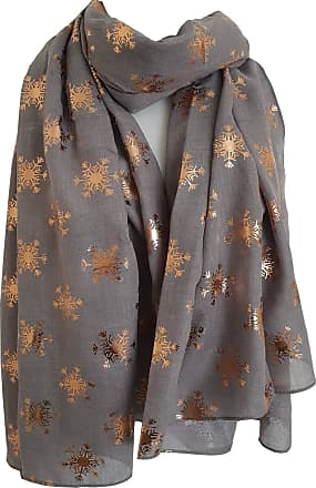 GlamLondon Snowflake Scarf Glitter Christmas Frozen Snow flakes Womens Large Gift for Her Scarves (Y18 - Beige)