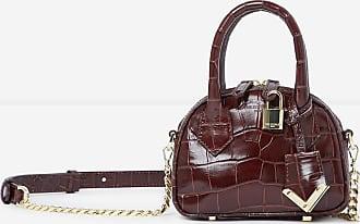 The Kooples Irina brown crocodile-print nano bag - WOMEN