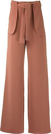 Framed Calça pantalona High Tailoring com amarração - Marrom