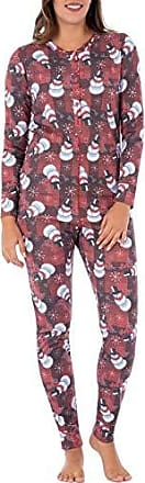 Fruit Of The Loom Womens Christmas Ribbed Union Suit, Snowman XL/XXL