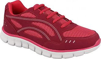 Spot On Ladies Womens Gym Running Jogger Walking Hiking Athletic Trainers Shoes Size 3-8-Fuchsia-UK 5-UK 5