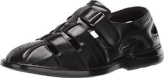 Stacy Adams Mens Argosy Closed-Toe Fisherman Velcro Sandal, Black, 7 M US