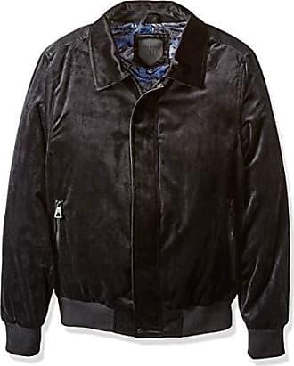 Urban Republic Mens Woven Velvet Jacket, Black, XL