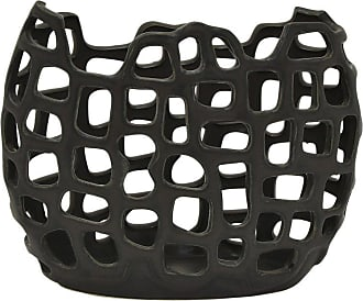 Three Hands Ceramic Black Flower Vase - 85276