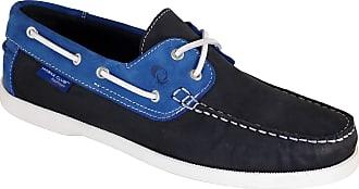 Quayside Ladies Alderney Soft Leather Boat Deck Shoes Navy/Cobalt UK 4