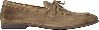 Doucal's Lace Detailed Suede Loafers, 41.5 Beige