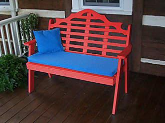 A & L Furniture A & L Furniture 858-BR Bright RED Poly Marlboro Garden Bench, Bright Red