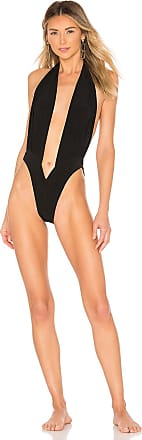 Norma Kamali Halter Butterfly Mio One Piece in Black