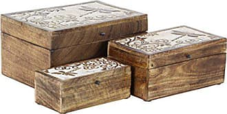 UMA Enterprises Inc. Deco 79 30982 Storage Box, Brown, White