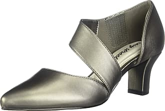 Easy Street Womens Dashing Dress Shoe Pump, Pewter, Size 6.0 US / 4 UK US