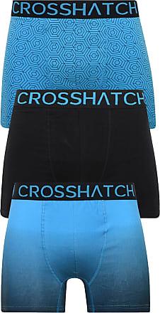 Crosshatch Mens 3 Pack Boxer Shorts Underwear Underpants Trunks Multipack Boxers (L, Czapla/Blue)