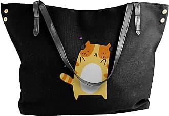 Juju Dancing Headphones Cat Womens Classic Shoulder Portable Big Tote Handbag Work Canvas Bags