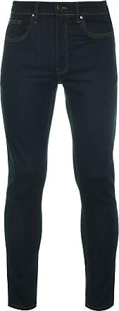 Firetrap Mens Skinny Jeans Tonal Stitching Denim Trousers Casual Pants Bottoms Raw Wash 32 L30