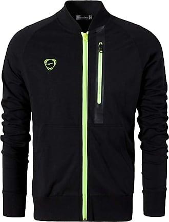 Jeansian Mens Casual Sweatshirt Full Zipper Tracksuit Jacket Long Sleeves Sports Top LA170 Black S
