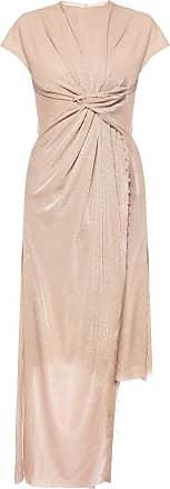 Lanvin Asymmetrical Dress Womens Beige