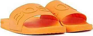 BOSS Italian-made slides with logo strap and contoured sole